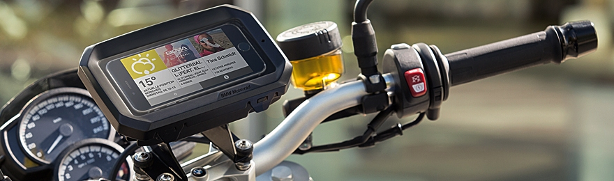 2015 BMW motorcycle smartphone holder