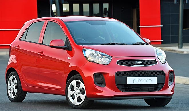 WHAT ELSE DO YOU NEED TO GET TO WORK? Kia's Picanto has aircon, space for four and can stay with the traffic. Image courtesy Kia SA
