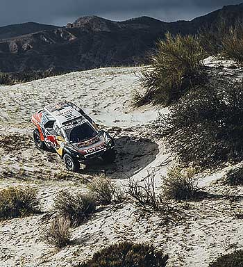 Carlos Sainz (ESP) from Team Peugeot Total performs during stage 10 of Rally Dakar 2016 from Belen to La Rioja, Argentina on January 13, 2016. // Flavien Duhamel/Red Bull Content Pool // P-20160113-00154 // Usage for editorial use only // Please go to www.redbullcontentpool.com for further information. //