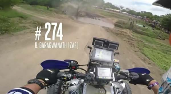 BETTER LUCK FOR BRAGWANATH: Lets hope it holds for the South African quadder - he's up with the leaders in the Dakar after falling out of the race on Day 2 in 2015. Image: Dakar Video