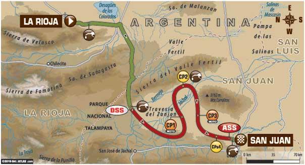 THURSDAY'S HELL RUN: This is Stage 11 of the 2016 Dakar in Argentina - La Rioja to San Juan. Image: Dakar Media