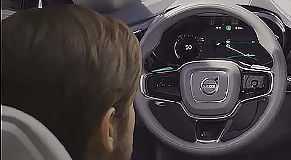 HANDS OFF, EASE BACK: Volvo and Ericsson are working together to give drivers something to do while they're, er, to lazy to drive. image: Volvo