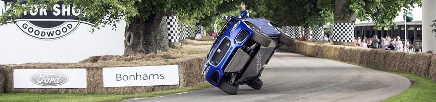 Jaguar F-Pace goes two-wheels at Goodwood Image: Jaguar Land Rover