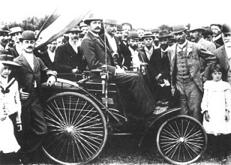 First motor car goes on show in South Africa