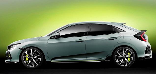 2017 Honda Civic hatchback. Image: Honda UK