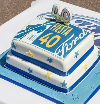 Ford Fiesta celebrates four decades. Image: Newspress/Ford Britain