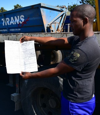 STOPPED AND GUILTY: The list of transgressions from just ONE of the 13 trucks checked in the road blitz. Image: FleetWatch