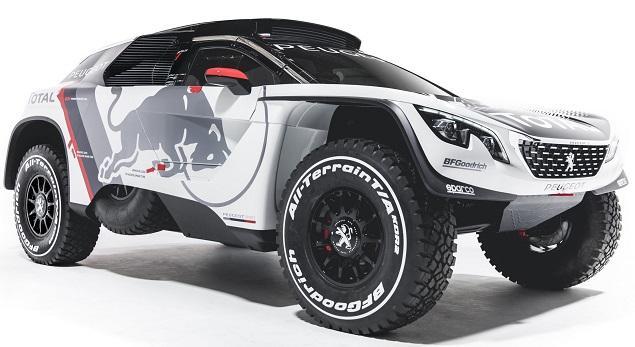 Peugeot 3008 Dakar Rally car. Image: Newspress/Peugeot