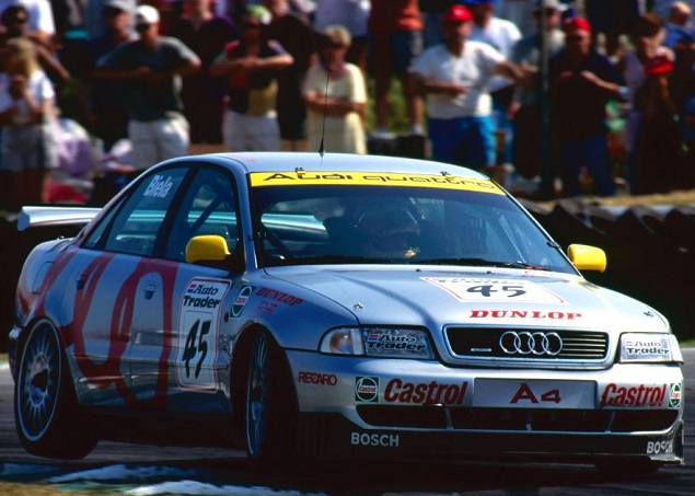 BIELA'S BATTLE WAGON: The first racing Audi A4 quattro back in 1996. Image: Newspress/Audi