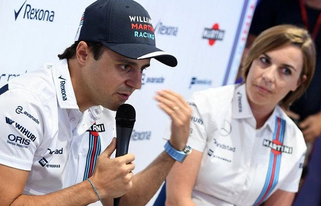 LAST LAP COMING: Felipe Massa, Sauber, Ferrari and Williams driver, has announced his retirement from F1 racilng. Image: Williams