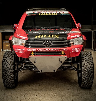 NEW DAKAR CHALLENGER: This is South Africa's new racing bakkie for the Dakar Rally. Image: Toyota SA