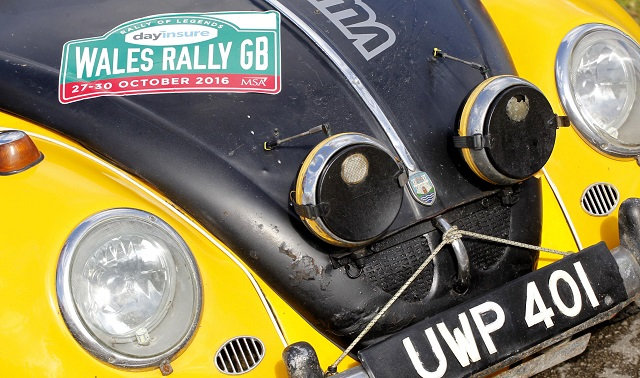 ALL ROPED DOWN: Not quite high-tech but Bertie did pass on of VW's top rally cars a year ago. Image: Newspress