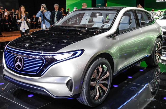 MERCEDES EQ AT PARIS: Claimed range 500km and production at Bremen, Germany. Image: Supplied