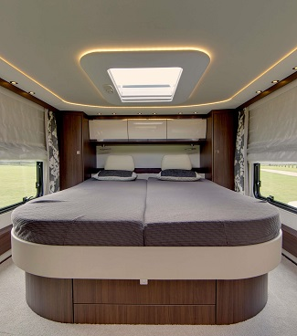 GIANT DOUBLE BED: The Morelo Liner can be furnished in any way the buyer wishes but this is cool. Image: Morelo/Newspress
