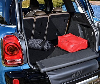 TAKE A SEAT: Maybe for the US market, but the Countryman can be fitted with a boot-sill padded seat for tailgate parties. Image: BMW / Mini