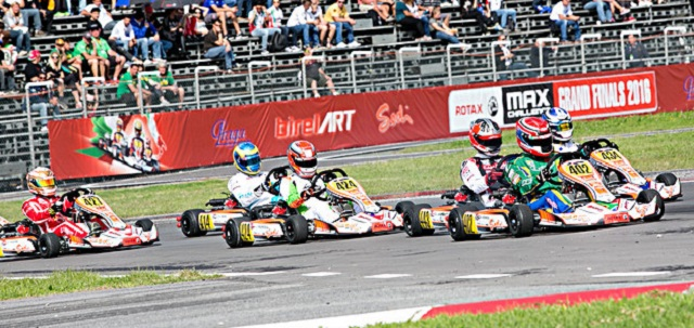 IN THE THICK OF IT: South Africa's Nick Verheul (No. 402) in action during the Rotax International Karting finals. Image: Citifoto