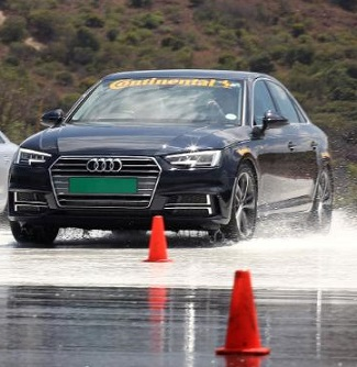 ROUND AND ROUND THE SKIDPAN: The AA tyre-test day at Gerotek gets under way. Image: AA