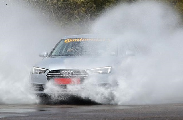 GOOD TYRES DISPLACE WATER: Make sure your tyres' tread is deep enough to drive safely. Image: AA