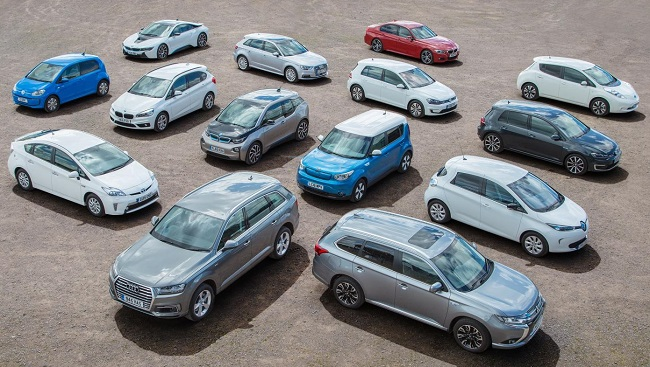 ELECTRIC CARS - SUCH A CHOICE: Fleet managers in the UK have a huge choice of battery-buggies for staff vehicles. Image: Supplied