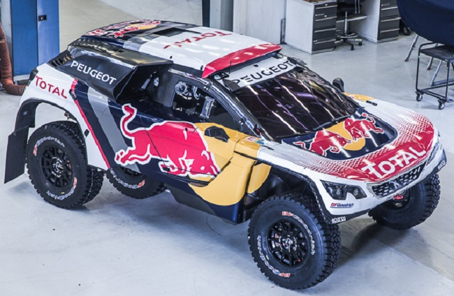 READY TO ROLL FOR DAKAR '17: Peugeot is today at the pre-Dakar rally media conference - and showing off its 3008 entry in full livery. Image: Peugeot