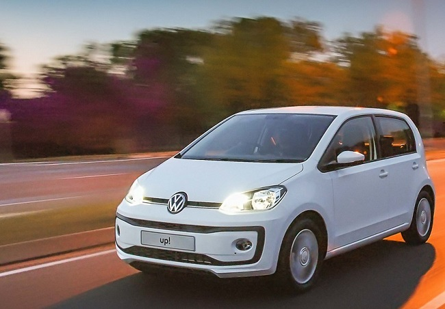 HEY UP! It's the new version of VW's minicar now available in four versions from your local VW dealer. Image: VW SA