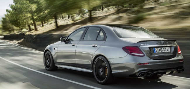 HIDDEN TALENTS: It looks like any other E-CLass, at a glance, but it has a four-litre V8 and the lastest all-wheel drive. Image: Mercedes-AMG