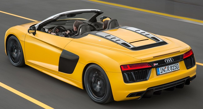2017 AUDI R8 GOES TOPLESS: 20-second operation, up or down. Image: Audi America / Newspress USA