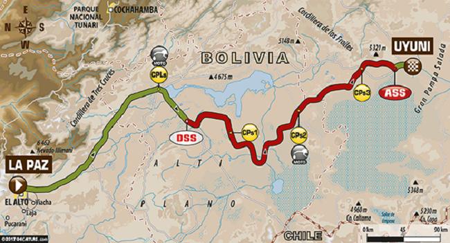 DAKAR STAGE 7: La Paz to Uyuni.