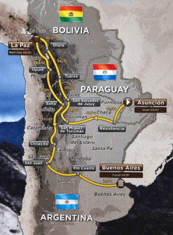 Routes for the 2017 Dakar Rally