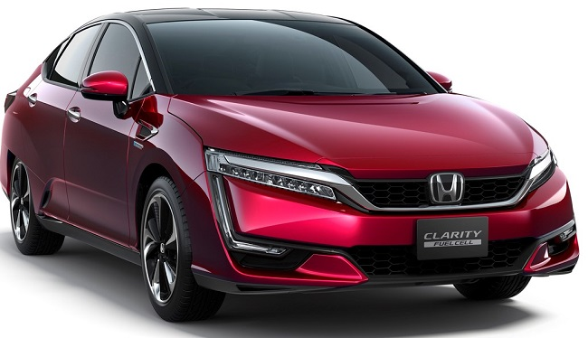 HONDA CLARITY: One of the test units for GM and Honda's joint experiment with fuel-cell propulsion. Image: Newspress