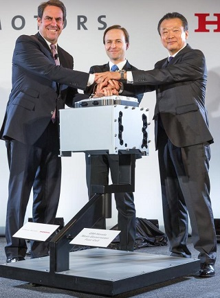 HONDA AND GM SIGN DEAL: And that's one of the new fuel-cell units that are being explored. Image: Newspress