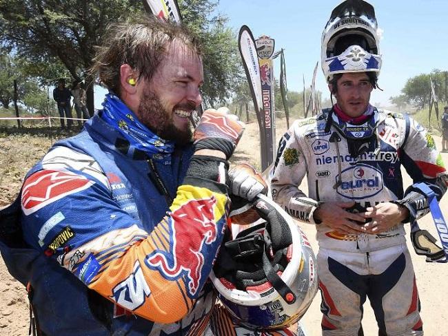 TOBY PRICE: The Australian biker is leading the way in the 2017 Dakar Rally. Image: Fox Sport