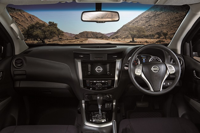 NO AUSTERITY HERE: Everything on the 2017 Nissan Navara is top-notch quality - including the audio and satnav. Image: Nissan SA