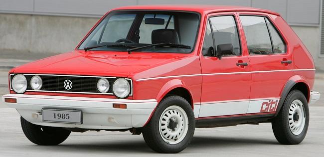 TIME CAPSULE: The 1984 VW Citi Golf . Image: VW SA Museum