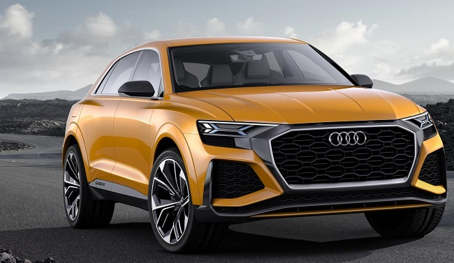 TWO MORE AUDIS TO HAVE 'Q' BADGE: This is the Q8 crossover to be built in Bratislava in 2018. A Q4 CUV will follow from Hungary as of 2019. Image: Audi / Newspress