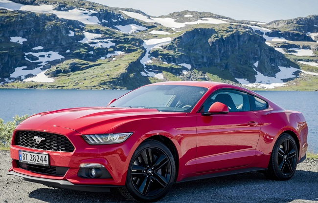 MUSTANG GALLOPING IN NORWAY: Where perhaps it should be badge Fiord Mustang? See other unlikely markets in the table further down the features. Image: Ford US / NewspressUSA