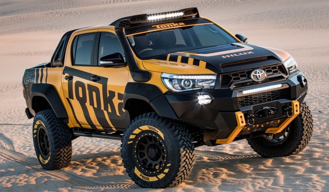 OUT IN THE SANDPIT: Image: Toyota / Quickpic