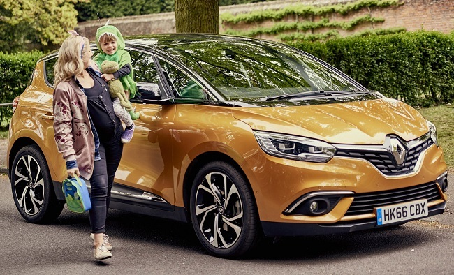 START 'EM YOUNG: A survey done for Renault showed the family car is the ideal place to talk to your children. Image: Renault / Newspress