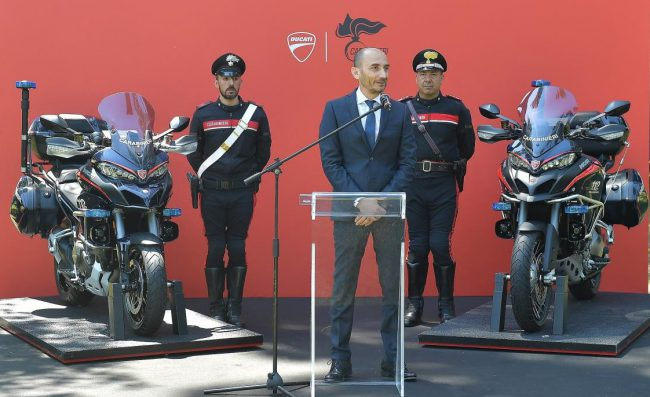 BIG BIKES ON BEAT FOR G7 TALKS: Image: Ducati / Newspress