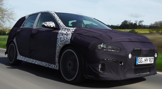 HYUNDAI i30 N IN TESTING: First - as here - on some of Britain's most testing roads. Then comes the Nurburgring 24-Hour. Image: Hyundai Motors