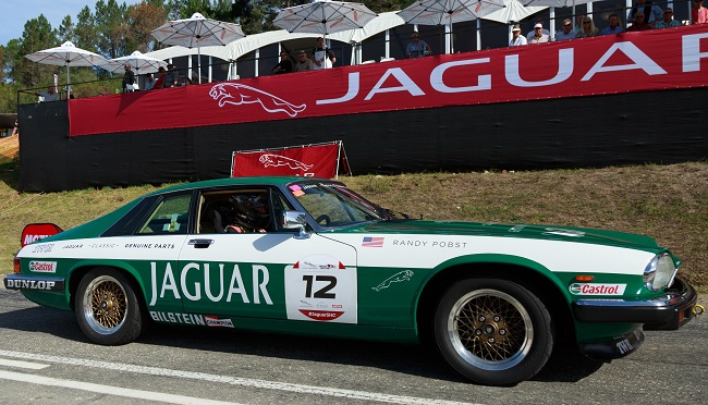POBST AND HIS JAGUAR: Off the line at the foot of the Simola Hillclimb. The car's parts were supplied as original from Jaguar UK. Image: Jaguar Land Rover SA