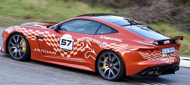 AMERICAN DREAM: Guest driver and multiple US racing champion Randy Pobst was fourth in class in a Jaguar F-Type SVR Coupe. Image: ROB TILL