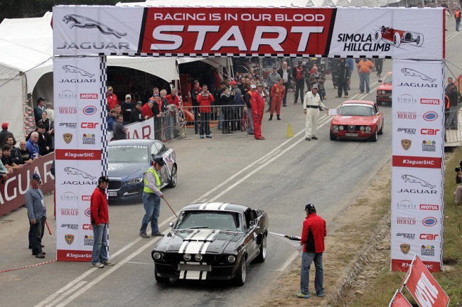 HILLCLIMB PITS AREA: Just like an F1 race - except smaller. Three days of great racing at Knysna. Image: Jaguar
