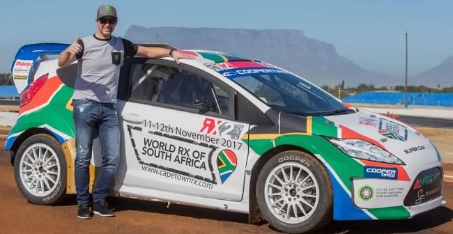 PETTER SOLBERG: Early visit to the Killarney Raceway in Cape Town ahead of the World Rallycross championship final. Image: Supplied