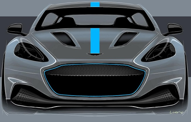 COMING SOON: The Aston Martin RapidE being prepared for production with help from Williams. Image: Aston Martin / Newspress