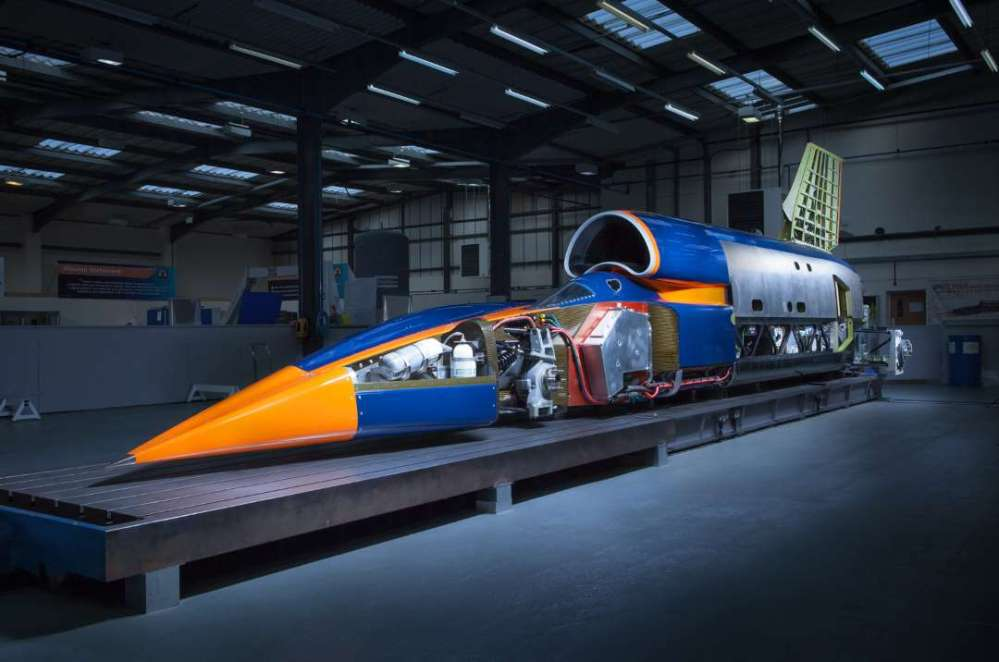 GETTING INTO IT: A Bloodhound media release image of Bloodhound. Image: Bloodhound SSC