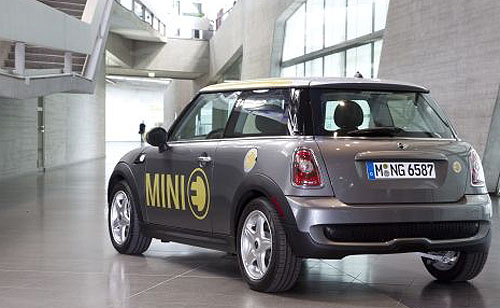 MINI E: It was the first of its kind - now full-electric and hybrid Minis will come off the same line as BMW's. Image: Mini