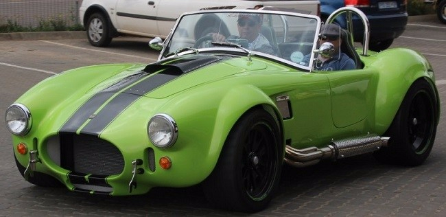 GREEN AND MEAN: Cobras are meant to look that way! See this one and, it's hoped, 99 others at the annual Cobra Concourse at Emperor's Palace. Image: Motorpress