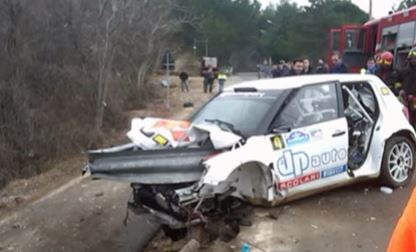CRASH FLASHBACK: Robert Kubica sustained severe damage to his right hand and arm when a crash barrier penetrated his race car. Image: YouTube