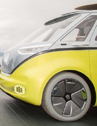 HELLO TO THE NEW: The very different nose of the proposed I.D. Buzz electric model. Image: VW / Newspress